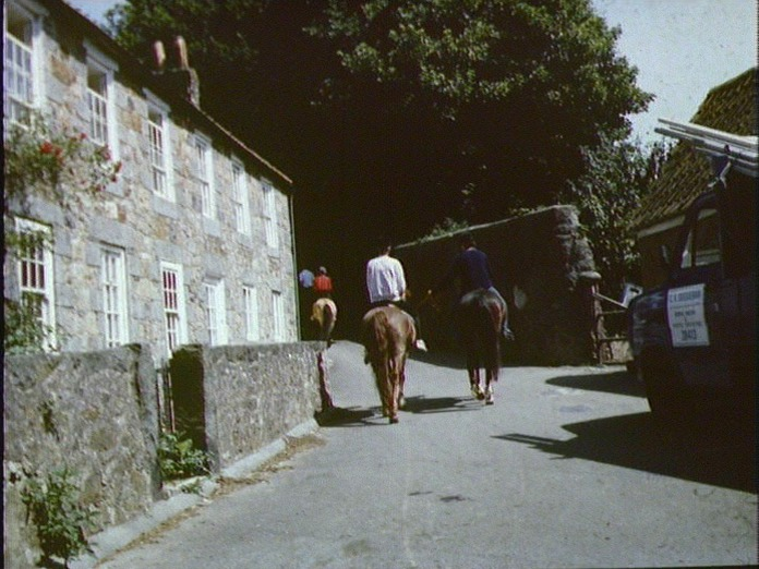 A TYPICAL ROAD IN GUERNSEY-1986