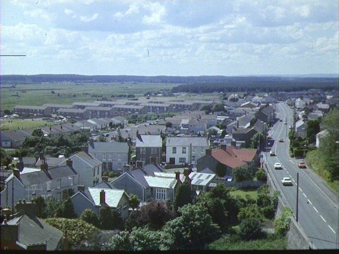 View from Pembrey church tower-1986