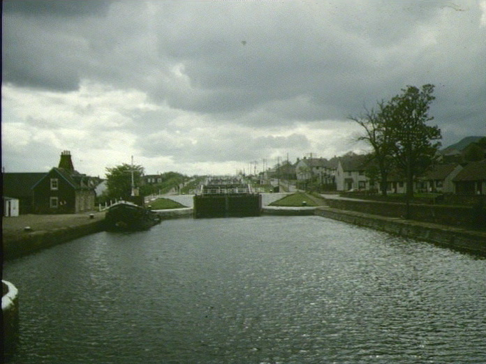 LOCKS AT THE CALEDONIAN CANAL.-1986