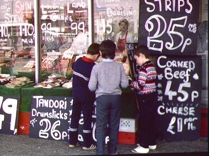 A butcher's shop, Liverpool.-1986