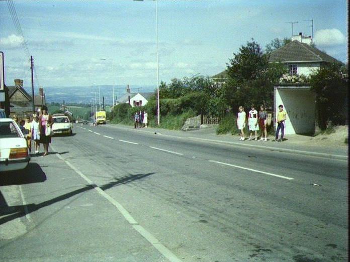 MAIN ROAD THROUGH CLEE HILL.-1986