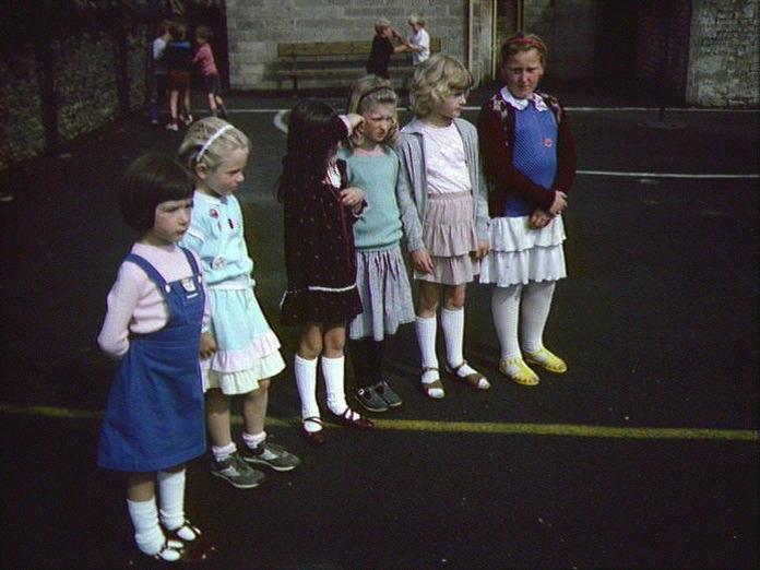 Girls school wear for summer.-1986