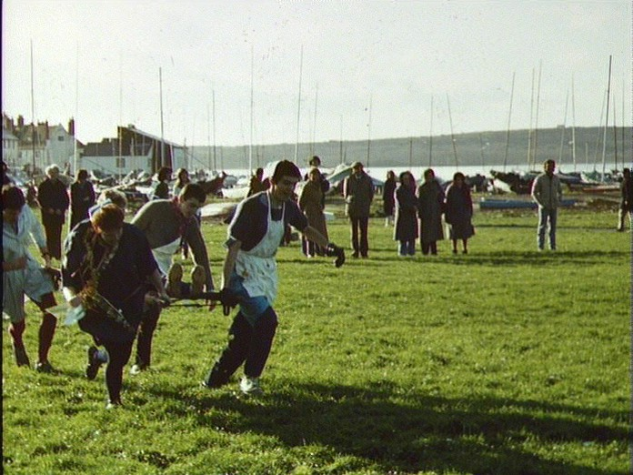 Bed Race at Mudeford Quay.-1986