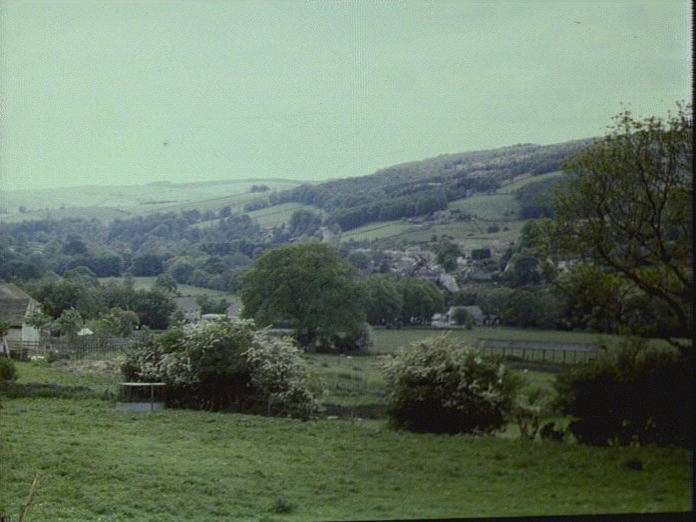 View of Grindleford from N.E.-1986