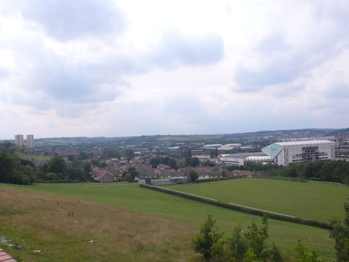 Hunslet looking towards Elland Road Football stadium-2011