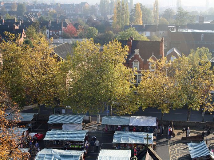 Hucknall Market Place with trees!-2011
