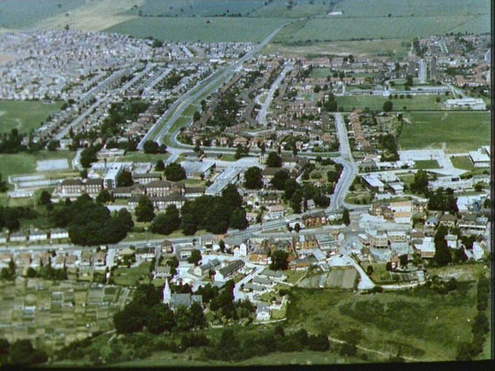 Maltby Town From the Air.-1986