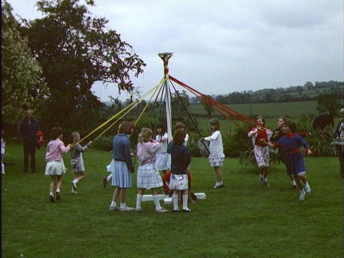 Maypole Dancing at Blakesley.-1986