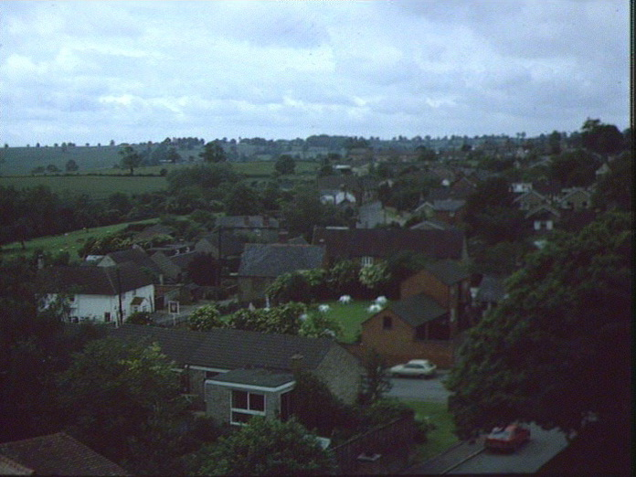 Ravensthorpe from church tower-1986