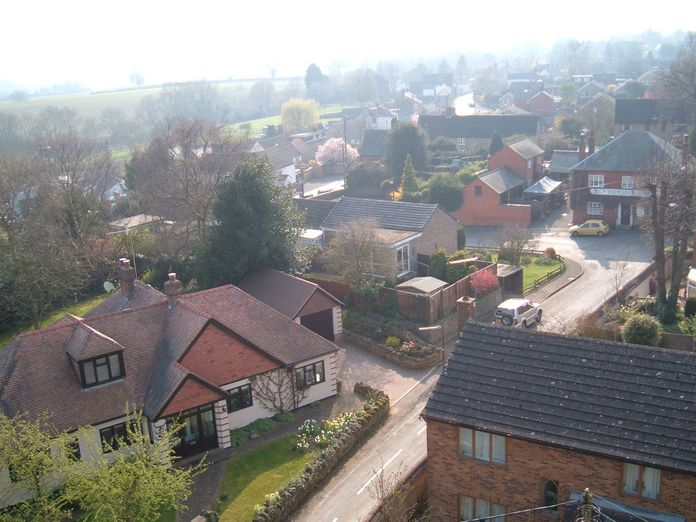 Village view from church tower 2011-2011