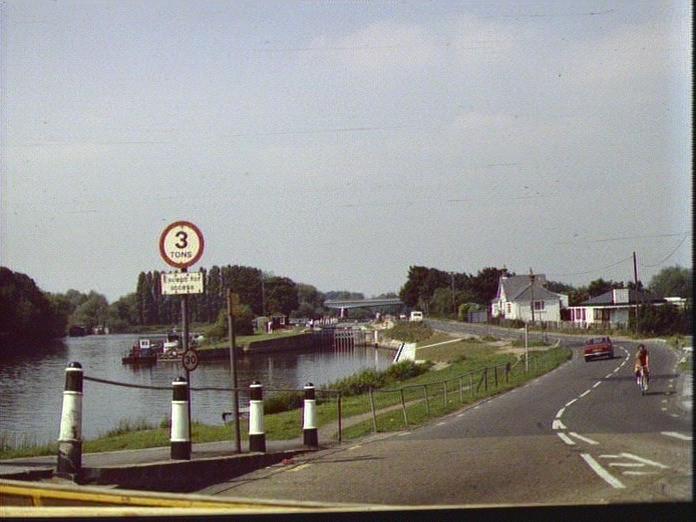 View from Chertsey Bridge-1986
