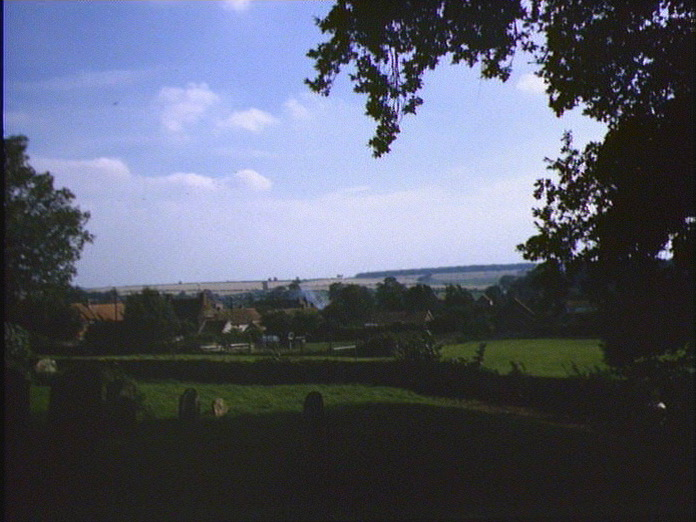 RINGSTEAD,VIEW FROM CHURCHYARD-1986