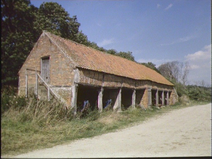 OLD BARN ON RINGSTEAD DOWNS-1986
