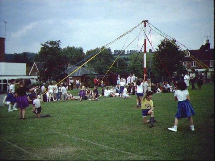 Maypole dancing at Ulcombe-1986