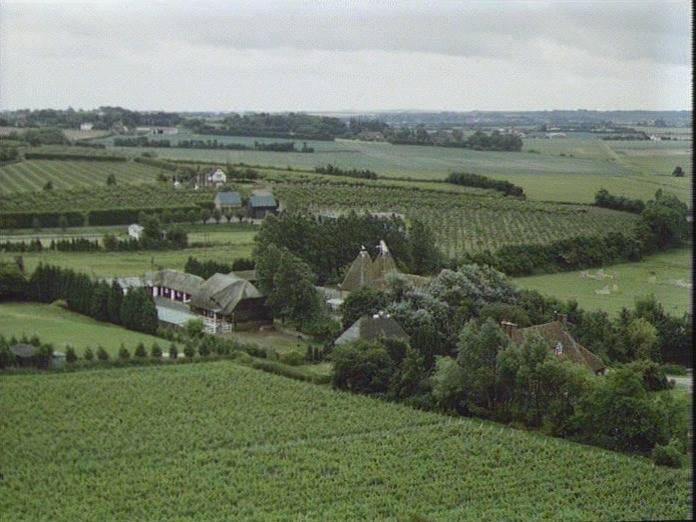 VIEW SE FROM ASH CHURCH TOWER-1986