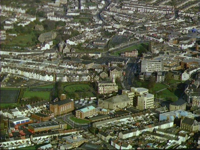 Llanelli from the Air.
