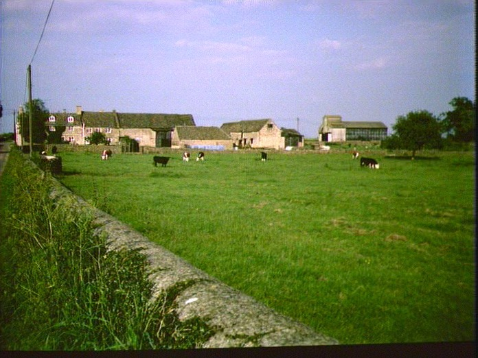 A Cotswold Farm and buildings.