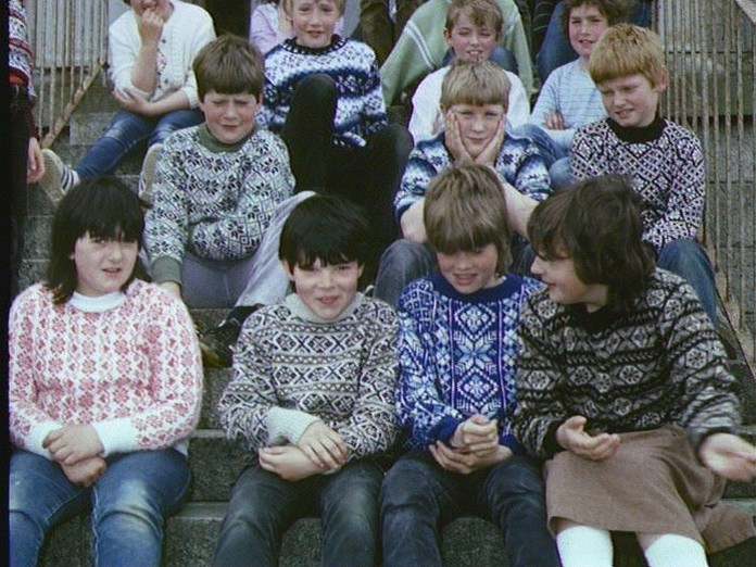 BBC - Domesday Reloaded: CHILDREN IN FAIR ISLE JUMPERS, from 1986