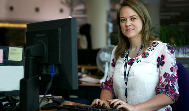Inga Thordar, ront page editor for BBC UK News online