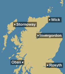 Tidal region map for Scotland