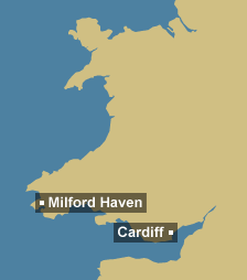 Tidal region map for Wales