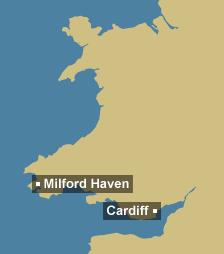 Tidal region map for Wales