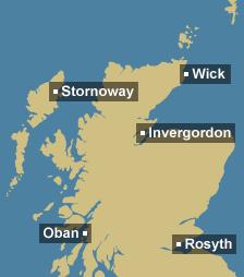 Tidal region map for Scotland