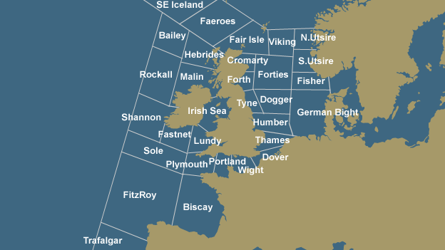Map of shipping forecast areas