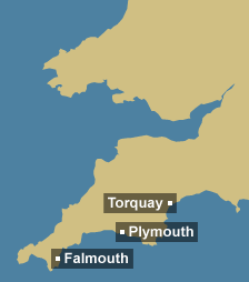 Tidal region map for South West