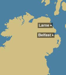 Tidal region map for N. Ireland